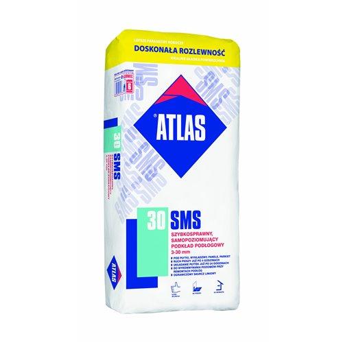 ATLAS SMS 30 - szybkosprawny, samopoziomujący podkład podłogowy (3-30 mm) 25kg