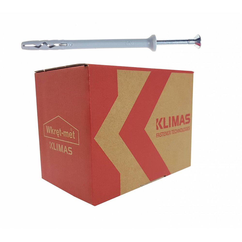 KLIMAS Kołek szybkiego montażu SM 6x80, 100szt