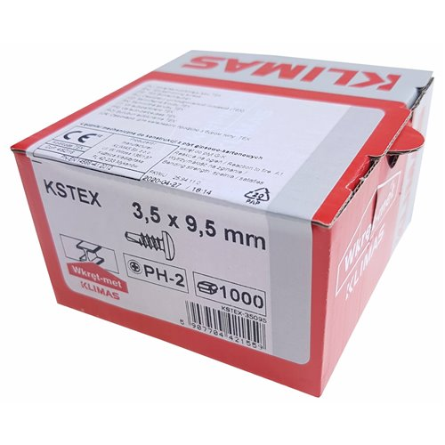 KLIMAS Wkręt samowiercący KSTEX 3,5x9,5 1000szt