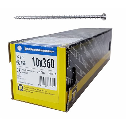DMX Wkręt ciesielski CPS 10x360 stożkowy,T50 50szt