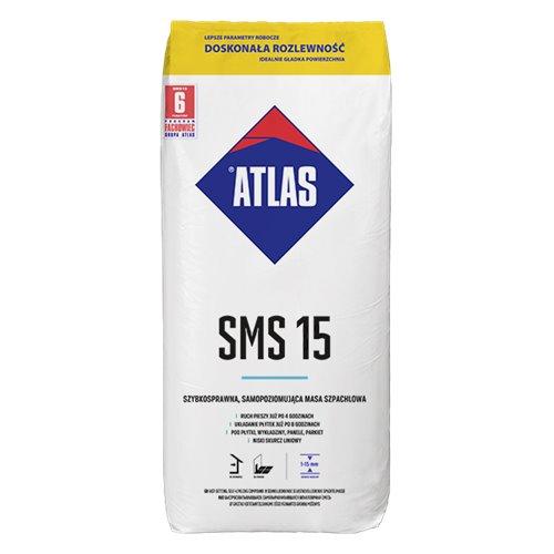 ATLAS SMS 15 - szybkosprawna samopoziomująca masa szpachlowa (1-15 mm) 25kg