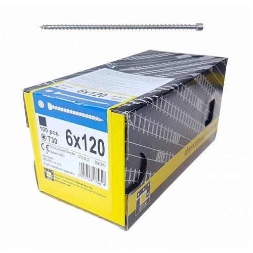 DMX Wkręt ciesielski CPW 6x120 walcowy, T30 100szt